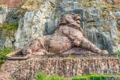 Monumento de Franco Prussian War en la Belfort Foto de archivo