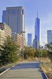 Monumento de Freedom Tower en un World Trade Center Imagen de archivo