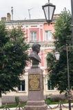 Monumento de general Seslavin en la ciudad de Rzhev, región de Tver, Rusia Fotos de archivo