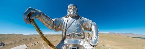 Monumento de Genghis khan fotografía de archivo