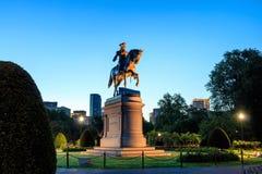 Monumento de George Washington en el jardín público Boston Imágenes de archivo libres de regalías