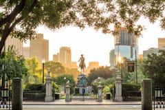 Monumento de George Washington en el jardín público Boston Foto de archivo