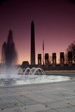 Monumento de George Washington, monumento de guerra imágenes de archivo libres de regalías