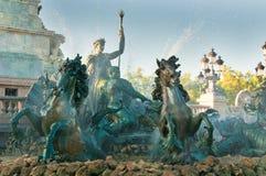 Monumento de Girondins e fonte, Bordéus, France Foto de Stock Royalty Free