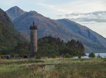 Monumento de Glenfinnan, Escocia Foto de archivo libre de regalías