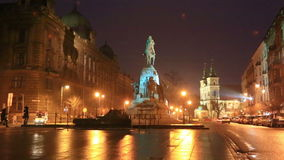 Monumento de Grunwald em Jana Matejki Square, Krakow vídeos de arquivo
