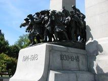 Monumento de guerra canadiense Fotografía de archivo
