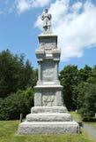 Monumento de guerra civil en el puerto histórico de la barra, Maine Fotografía de archivo libre de regalías