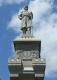 Monumento de guerra civil en puerto histórico de la barra en Maine Imágenes de archivo libres de regalías