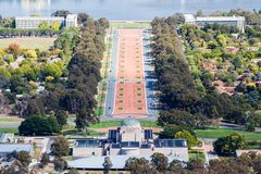 Monumento de guerra de Canberra Imagen de archivo libre de regalías
