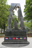 Monumento de Guerra de Corea en parque de batería Fotografía de archivo