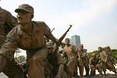 Monumento de guerra de la Corea del Sur, Seul Imagen de archivo libre de regalías