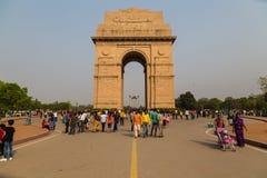 Monumento de guerra de la puerta de la India en Delhi Fotos de archivo