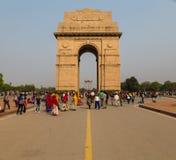 Monumento de guerra de la puerta de la India en Delhi Fotografía de archivo libre de regalías