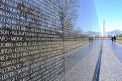 Monumento de guerra de Vietnam Imagen de archivo libre de regalías