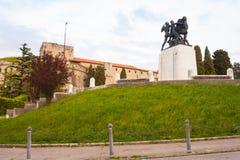 Monumento de guerra en la colina del St Giusto, Trieste - Italia Fotografía de archivo