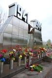 Monumento de guerra en las alturas de Sinyavino Imágenes de archivo libres de regalías