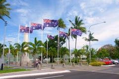 Monumento de guerra en los mojones Australia Foto de archivo libre de regalías