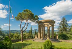 Monumento de guerra en Poppi Imagen de archivo libre de regalías