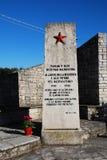 Monumento de guerra en San Michele Del Carso Imagenes de archivo