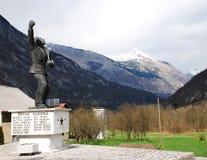 Monumento de guerra en Zaga Imagen de archivo