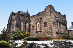 Monumento de guerra nacional escocés, castillo de Edimburgo Imagenes de archivo