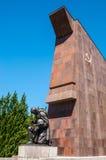 Monumento de guerra soviético Fotografía de archivo libre de regalías