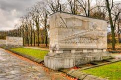 Monumento de guerra soviético en el parque de Treptower, panorama de Berlín, Alemania Imagen de archivo