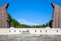 Monumento de guerra soviético, parque de Treptower, Imagenes de archivo