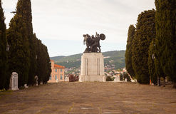 Monumento de guerra, Trieste Imagen de archivo