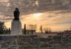 Monumento de guerra, Trieste Fotos de archivo libres de regalías