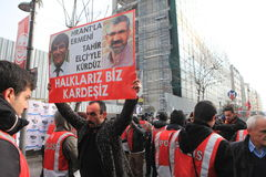 Monumento de Hrant Dink en Estambul Foto de archivo