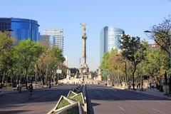 Monumento de Indipendence, Ciudad de México Foto de archivo