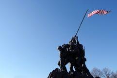 Monumento de Iwo Jima con el copyspace Imagen de archivo