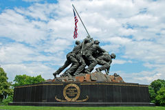 Monumento de Iwo Jima en Washington DC Foto de archivo libre de regalías