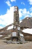 Monumento de Izoard del ` de la cuesta d, parque natural de Queyras del francés Imagen de archivo
