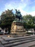 Monumento de Jan Sobieski en Gdansk Polonia Imagenes de archivo