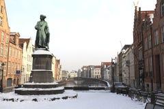 Monumento de Jan van Eyck Foto de archivo libre de regalías