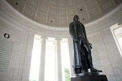 Monumento de Jefferson en la C.C. de Washington Foto de archivo