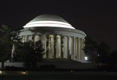 Monumento de Jefferson en la noche Fotografía de archivo libre de regalías