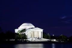 Monumento de Jefferson en Washington DC en la oscuridad imagen de archivo libre de regalías