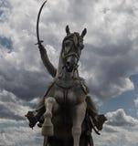 Monumento de Jelacic da proibição no céu escuro Fotos de Stock