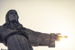 Monumento de Jesus Christ em Lisboa - Portugal imagens de stock