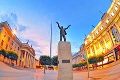 Monumento de Jim Larkin no centro de cidade de Dublin Foto de Stock Royalty Free