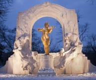 Monumento de Johan Strauss de Viena Stadtpark Foto de archivo libre de regalías