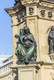 Monumento de Johannes Gutenberg en el Rossmarkt meridional Imágenes de archivo libres de regalías