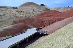 Monumento de John Day Fossil Beds National, Oregon Foto de archivo