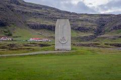 Monumento de Jon Eiriksson fotos de archivo