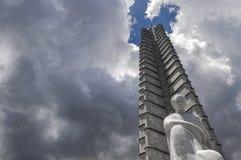 Monumento de Jose Martì no quadrado da revolução, Havana Foto de Stock Royalty Free