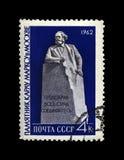Monumento de Karl Marx em Moscou, líder famoso do político, autor principal do livro, URSS, cerca de 1962, Fotografia de Stock Royalty Free
